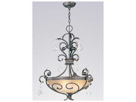 Classic Lighting Corporation Avalon Bronze & Gold Three-Light Pendant Light C892123BZG