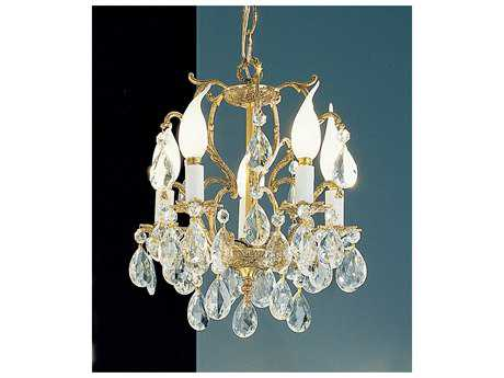 Classic Lighting Corporation Barcelona Olde World Bronze Five-Light 10'' Wide Mini Chandelier C85227OWBC