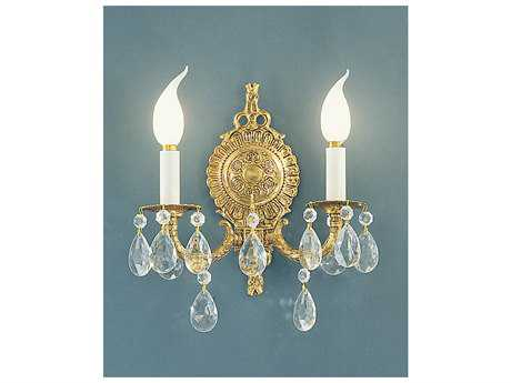 Classic Lighting Corporation Barcelona Olde World Bronze Two-Light Wall Sconce C85222OWBC