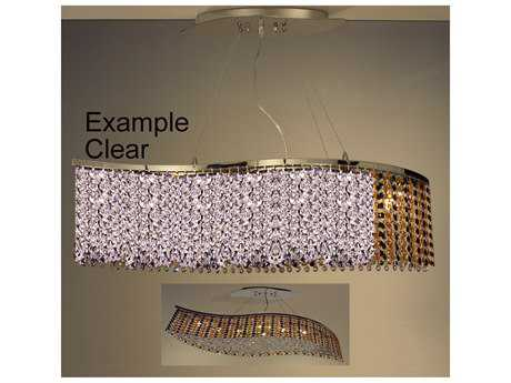Classic Lighting Corporation Bedazzle Chrome Eight-Light Island Light C816128CP