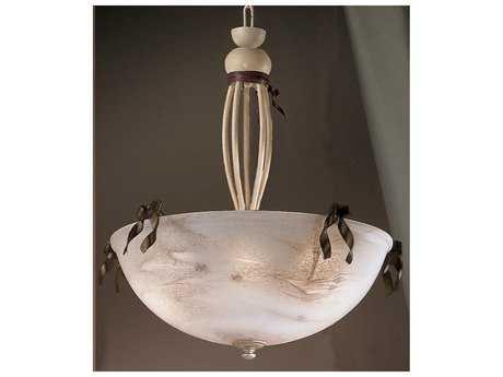 Classic Lighting Corporation Belluno Ivory & Brown Five-Light Pendant Light C83650IB