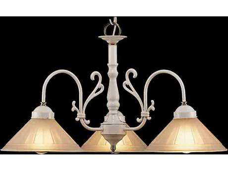 Classic Lighting Corporation Biltmore White Three-Light 27 Wide Chandelier C83053WPB