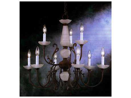 Classic Lighting Corporation Bloomington Nine-Light 28'' Wide Chandelier C83069ORB