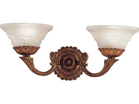 Classic Lighting Corporation Bordeaux Antique Gold Two-Light Wall Sconce C867402AG