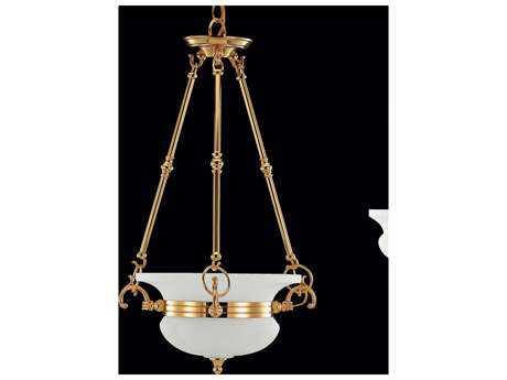 Classic Lighting Corporation Cambridge 24k Gold Plate Four-Light Pendant Light C867204G