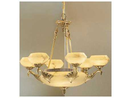Classic Lighting Corporation Camelot Satin Bronze & Brown Patina Nine-Light 31 Wide Chandelier