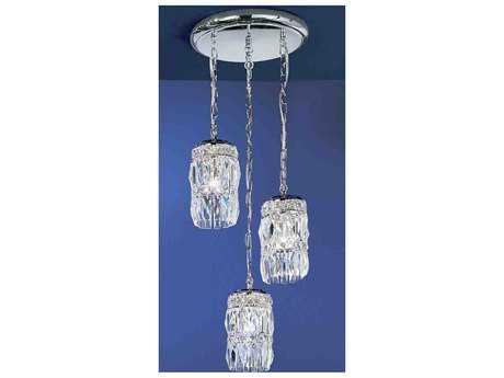 Classic Lighting Corporation Cascade Three-Light 10'' Wide Pendant Light C81083CHCP