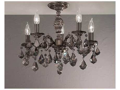 Classic Lighting Corporation Chateau Five-Light Semi-Flush Mount Light C857374AGBSGT