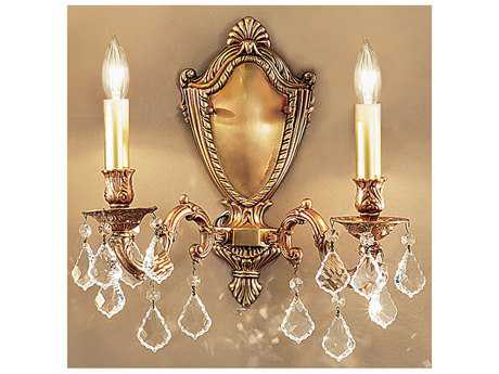 Classic Lighting Corporation Chateau Two-Light Wall Sconce C857372FGCP