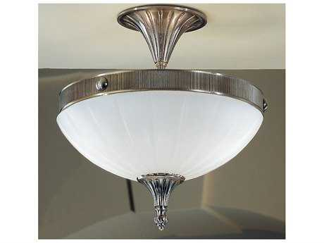Classic Lighting Corporation Chelsea Pewter Two-Light Semi-Flush Mount Light C855302PTR