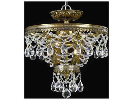 Classic Lighting Corporation Contessa Three-Light Semi-Flush Mount Light C868910RNBCP