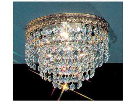 Classic Lighting Corporation Crystal Baskets Olde World Bronze Two-Light Flush Mount Light C851208OWBCP