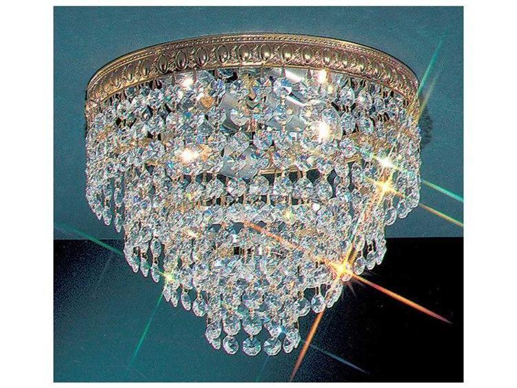 Clic Lighting Corporation Crystal Baskets Olde World Bronze Two Light Flush Mount