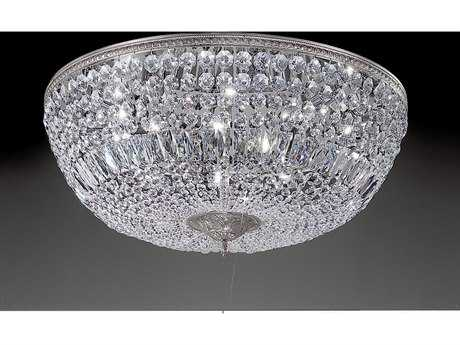 Classic Lighting Corporation Crystal Baskets Ten-Light Flush Mount Light C852030CHI