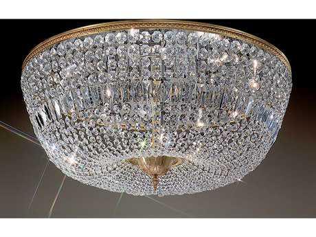 Classic Lighting Corporation Crystal Baskets 12-Light Flush Mount Light C852036OWBI