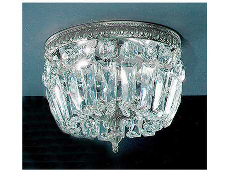 Classic Lighting Corporation Crystal Baskets Two-Light Flush Mount Light C852208CHI