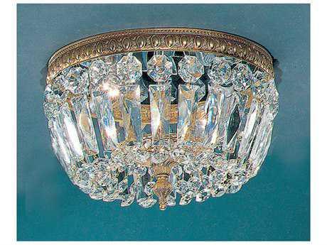 Classic Lighting Corporation Crystal Baskets Two-Light Flush Mount Light C852210OWBI