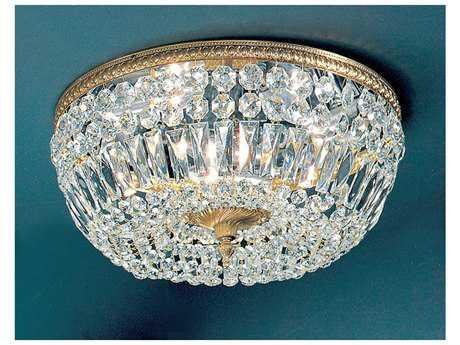 Classic Lighting Corporation Crystal Baskets Five-Light Flush Mount Light C852518OWBI