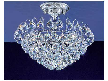 Classic Lighting Corporation Diamante Chrome Three-Light Semi-Flush Mount Light C81893CHCP