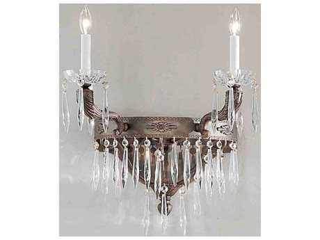 Classic Lighting Corporation Duchess Millennium Silver Two-Light 18'' Wide Wall Sconce