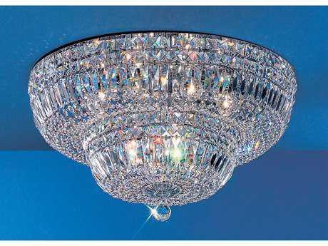 Classic Lighting Corporation Empress Chrome 12-Light Flush Mount Light C853324CHCP