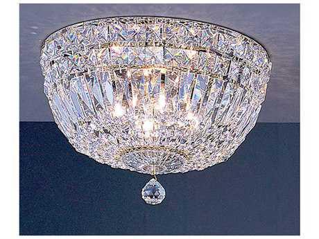 Classic Lighting Corporation Empress 24k Gold Plate Four-Light Flush Mount Light C853412GCP