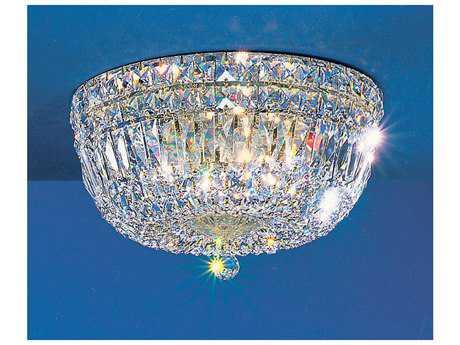 Classic Lighting Corporation Empress 24k Gold Plate Six-Light Flush Mount Light C853414GCP
