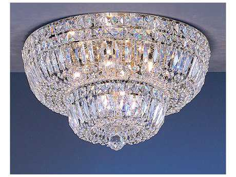 Classic Lighting Corporation Empress 24k Gold Plate Nine-Light Flush Mount Light C853418GCP