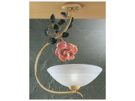 Classic Lighting Corporation Floral Ivory Semi-Flush Mount Light C83631