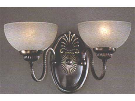 Classic Lighting Corporation French Horn Antique Bronze Two-Light Wall Sconce C87722