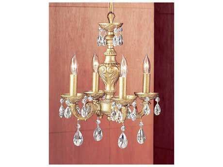 Classic Lighting Corporation Gabrielle Olde Gold Four-Light 12'' Wide Mini Chandelier C88334OGC