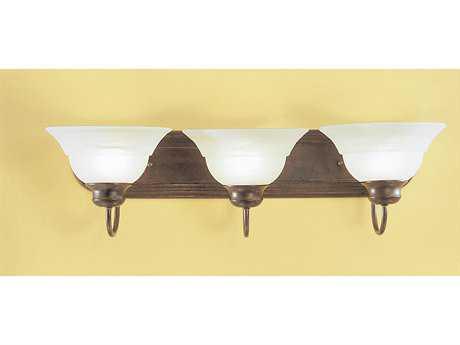 Classic Lighting Corporation Glendale English Bronze Three-Light Vanity Light C868413EB