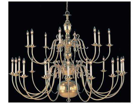 Classic Lighting Corporation Hermitage Polished Brass 24-Light 60'' Wide Grand Chandelier C86746