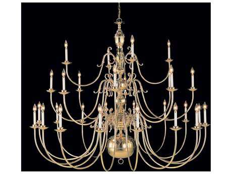 Classic Lighting Corporation Hermitage Polished Brass 28-Light 72'' Wide Grand Chandelier C86749