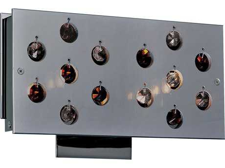 Classic Lighting Corporation Infinity Black Chrome Two-Light Wall Sconce