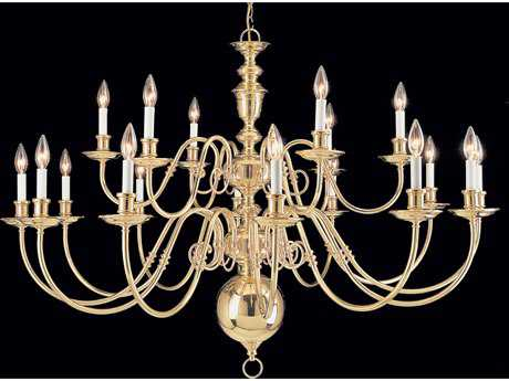 Classic Lighting Corporation Jamestown Polished Brass 18-Light 48'' Wide Chandelier C86736