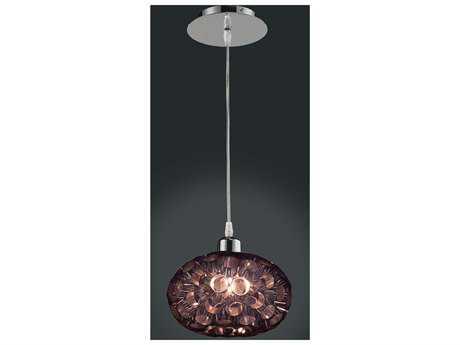 Classic Lighting Corporation Laguna Chrome & Black Mini-Pendant Light