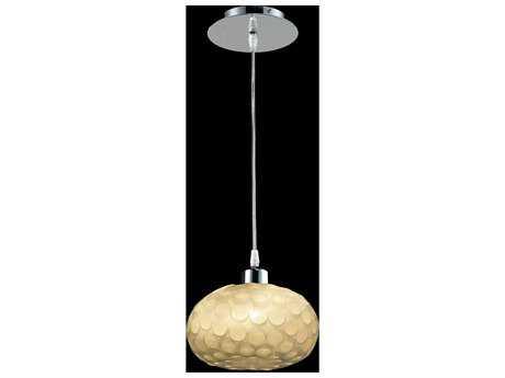 Classic Lighting Corporation Laguna Chrome & Cream Mini-Pendant Light