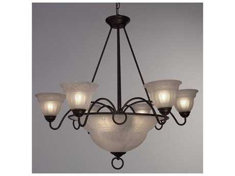 Classic Lighting Corporation Livorno Nine-Light 35 Wide Chandelier C840109EB