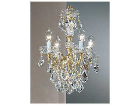 Classic Lighting Corporation Madrid Imperial Four-Light 13'' Wide Mini Chandelier C85544OWBC