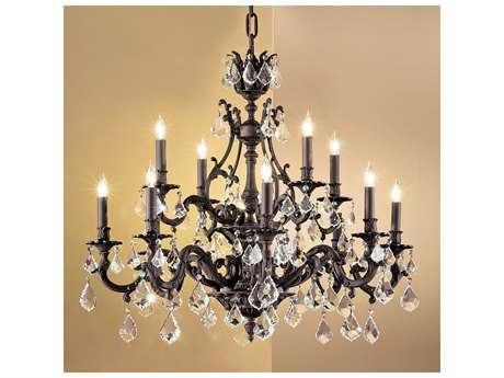 Classic Lighting Corporation Majestic 12-Light 34'' Wide Grand Chandelier C857349AGBCP