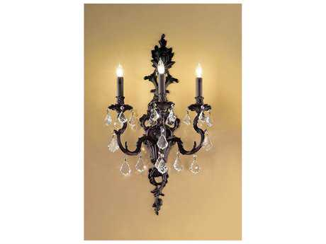 Classic Lighting Corporation Majestic Three-Light Wall Sconce C857343AGBCP