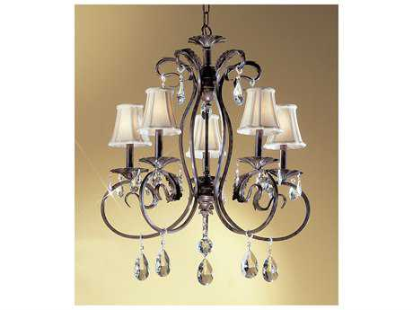 Classic Lighting Corporation Manilla II English Bronze Five-Light 26'' Wide Chandelier C868315EBC