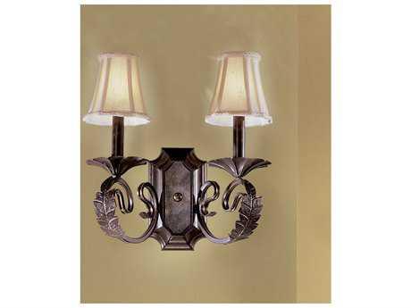 Classic Lighting Corporation Manilla II English Bronze Two-Light Wall Sconce C868312EB