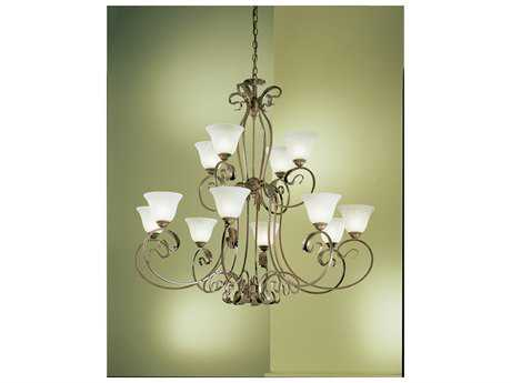 Classic Lighting Corporation Manilla English Bronze 12-Light 48'' Wide Grand Chandelier C868309EB