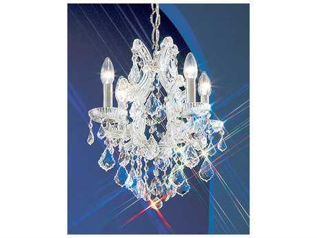 Classic Lighting Corporation Maria Theresa Four-Light 16'' Wide Mini Chandelier C88134CHC