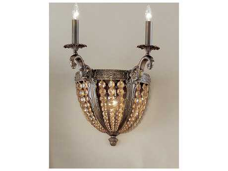 Classic Lighting Corporation Merlot Aged Bronze Two-Light Wall Sconce C85762AGBAI
