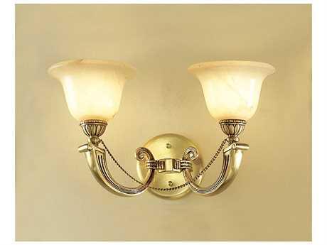 Classic Lighting Corporation Monica Satin Bronze & White Patina Two-Light Wall Sconce
