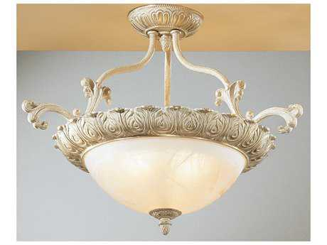 Classic Lighting Corporation Montego Bay Sorrento Three-Light Semi-Flush Mount Light C868511SG
