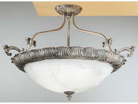 Classic Lighting Corporation Montego Bay Millennium Silver Four-Light Semi-Flush Mount Light C868513MS